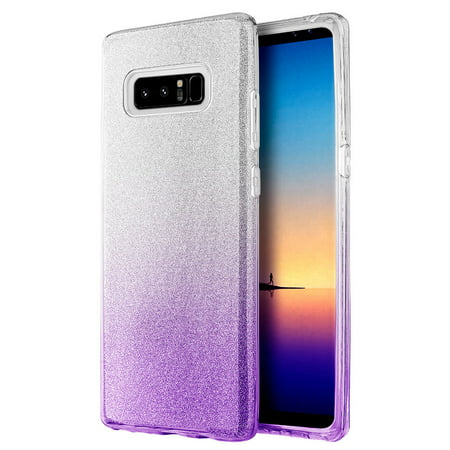For Samsung Galaxy Note 8 SHINE Hybrid Hard Case Rubber Cover +Screen Protector