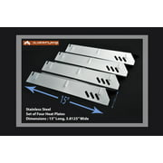 Set of 4 Stainless Steel Heat plates for Backyard grills, Better Home and Garden grills and Uniflame Grills
