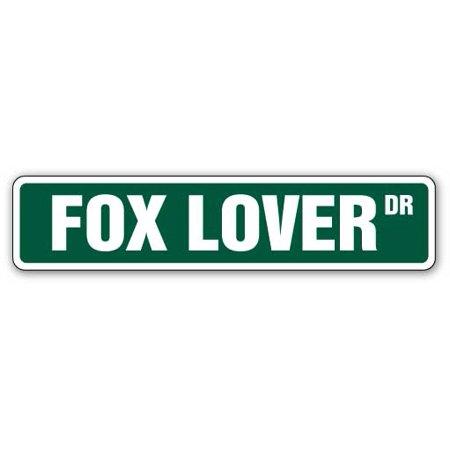Fox Hunt Scene - FOX LOVER Aluminum Street Sign animal outdoors hunting hunt wife | Indoor/Outdoor | 18