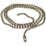 94991 3 ft. Nickel Plated Steel Beaded Chain, Pack Of 6