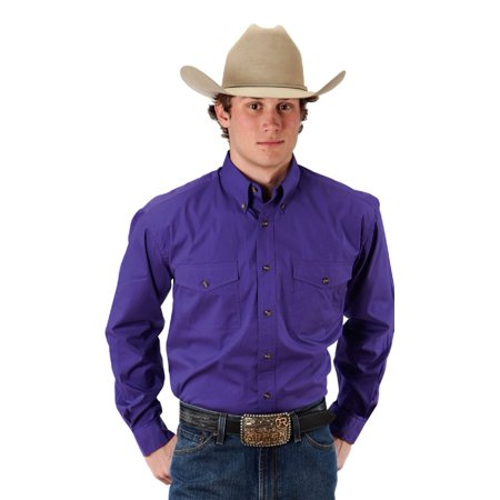 Roper Western Shirt Mens L/S Solid Button Purple 03-001-0365-1067 PU