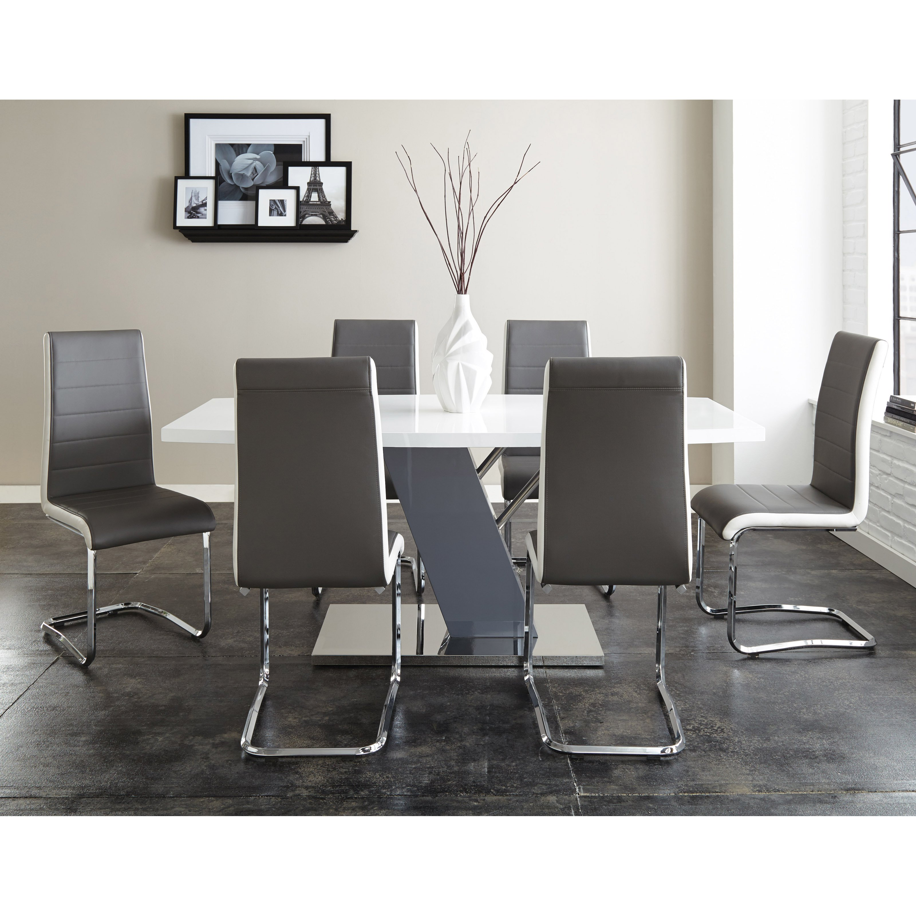 Steve Silver 7 Piece Nevada Dining Table Set by Steve Silver Co
