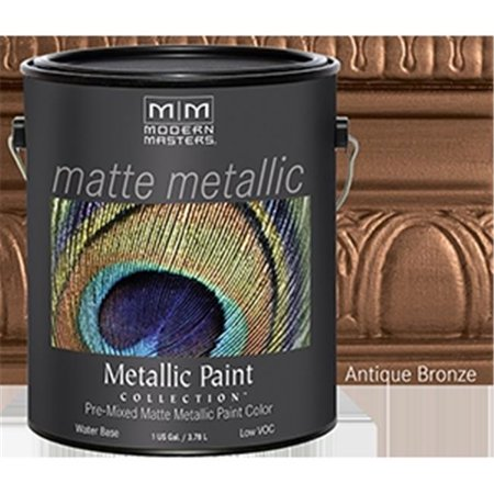Modern Masters MM204 1 Gallon Antique Bronze Matte Metallic Paint