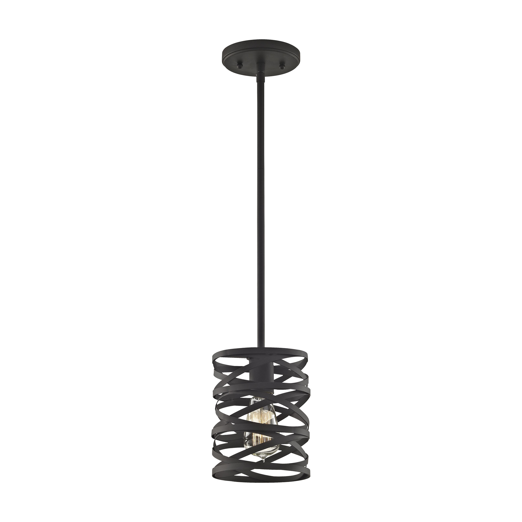 Vorticy 1 Light Pendant In Oil Rubbed Bronze - Includes Recessed Lighting Kit - image 1 of 1