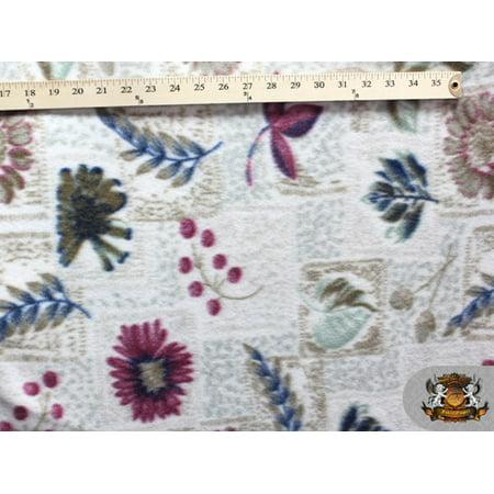 Fleece Printed Floral *MULTI-FLOWER DESIGN* By the Yard N-126