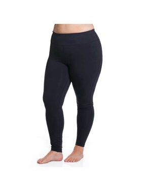 fe2c57e476e Product Image J.J. Mae Rainbeau Inc. Rainbeau Curves Curve Basix Women s  Black Cotton Spandex Sport Tights