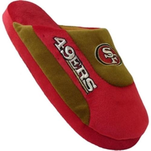 Happy Feet Mens and Womens San Francisco 49ers - Low Pro Slippers - Large