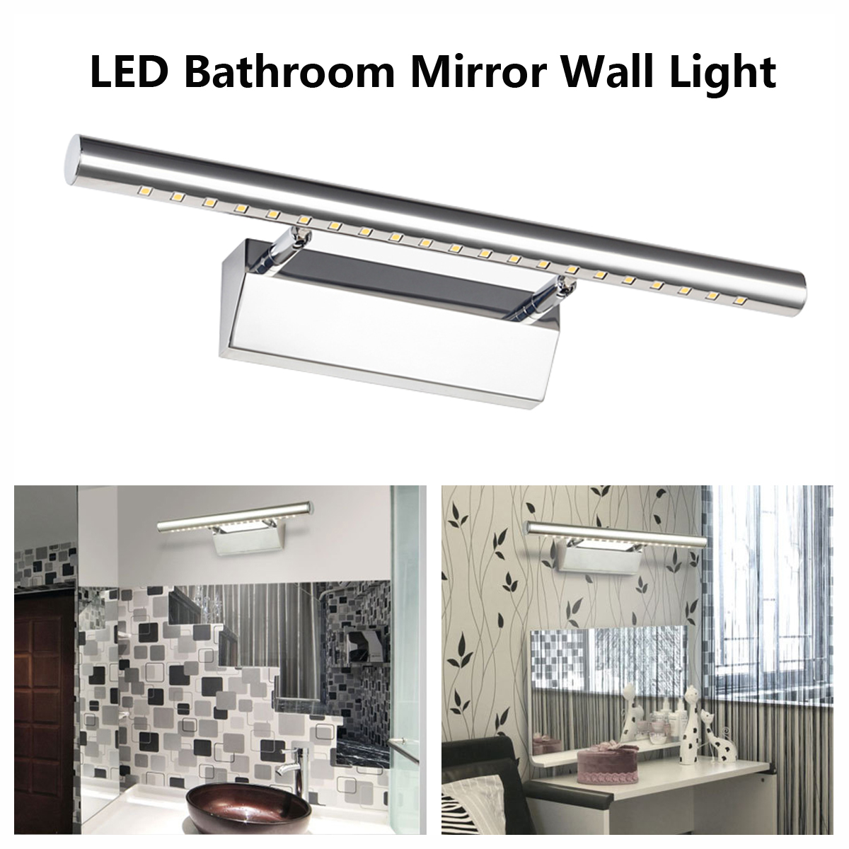 7W LED Mirror Front Light Bathroom Toilet Wall Lamp Home Make-up Vanity Light by