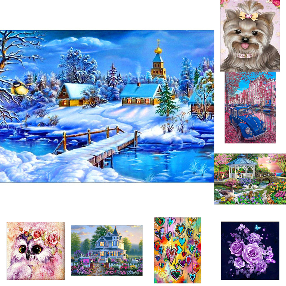 Girl12Queen Fashion 5D Resin Diamond Painting Cross Stitch Kit DIY Bedroom Decor Wall Craft