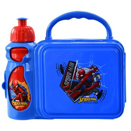 Spiderman Combo Lunch Box with Water Bottle](Spiderman Lunch Box)