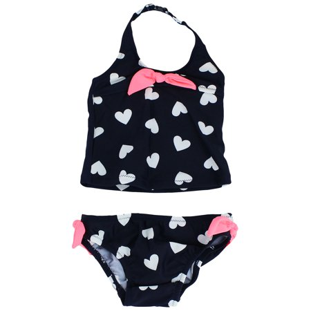 OshKosh Heart Tankini Navy Girls 2 Piece Bathing Suit 4