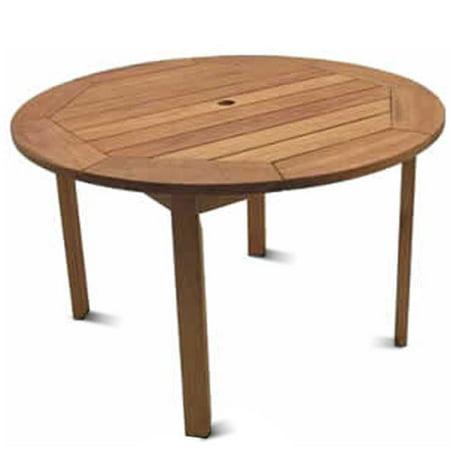 Milano FSC Eucalyptus Wood Outdoor Round Table - Walmart.com
