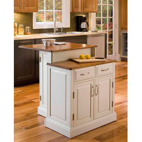 Kitchen Island 2 Tier home styles woodbridge 2-tier island, white - walmart