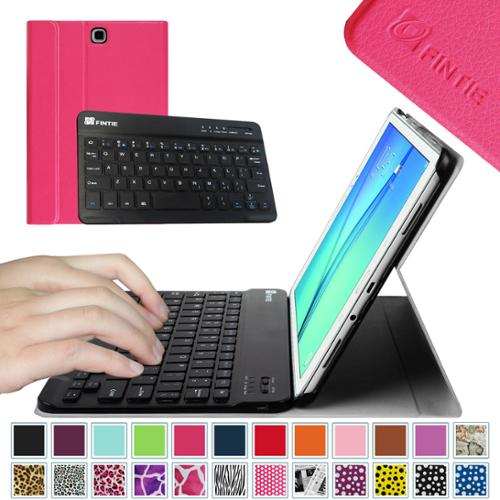 Samsung Galaxy Tab A 9.7-inch SM-T550/P550 Tablet Case - Fintie Smart Cover with Detachable Bluetooth Keyboard, Magenta