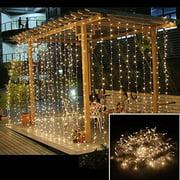 AGPtek 3Mx3M 300LED Linkable Fairy  Lights StringsLights 8 Lighting Modes for Wedding Ceremony Christmas Party