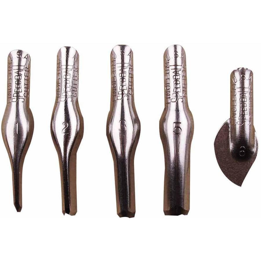 Speedball Linoleum Cutters, Set of 5