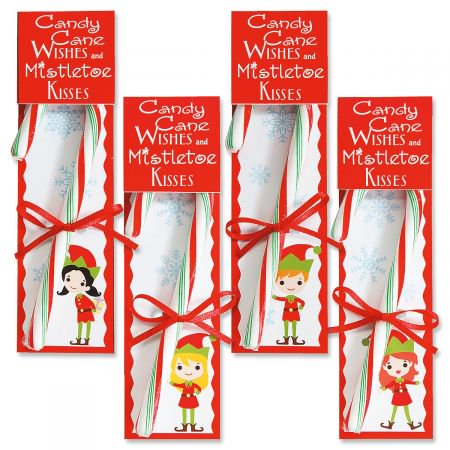 Elf Candy Cane Favors- Set of 8 Christmas Party Favors](Candy Cane Elf)