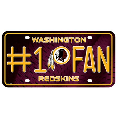 Washington Redskins #1 Fan License Plate - image 1 of 1