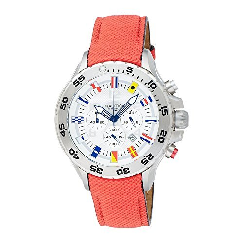 Nautica Men's A24515G NST Dive Style Chronograph Nautical Flag Watch by