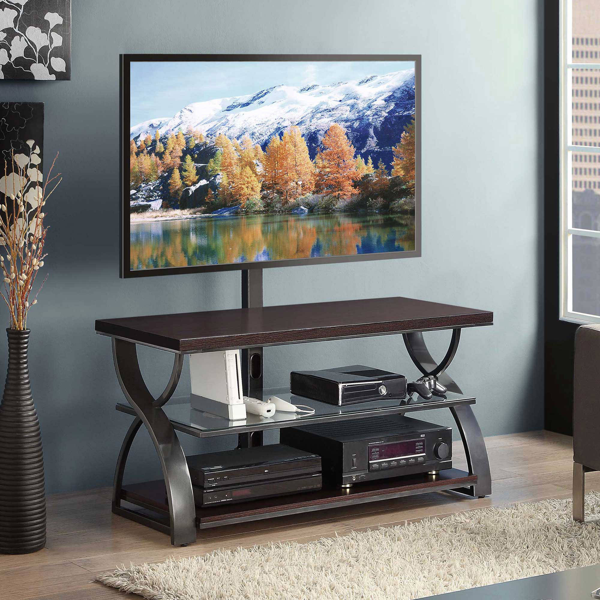 "Calico Dark Brown 54"" 3-in-1 TV Console for TVs up to 65"""
