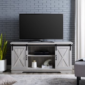 Manor Park Modern Farmhouse Sliding Barn Door TV Stand for TVs up to 64