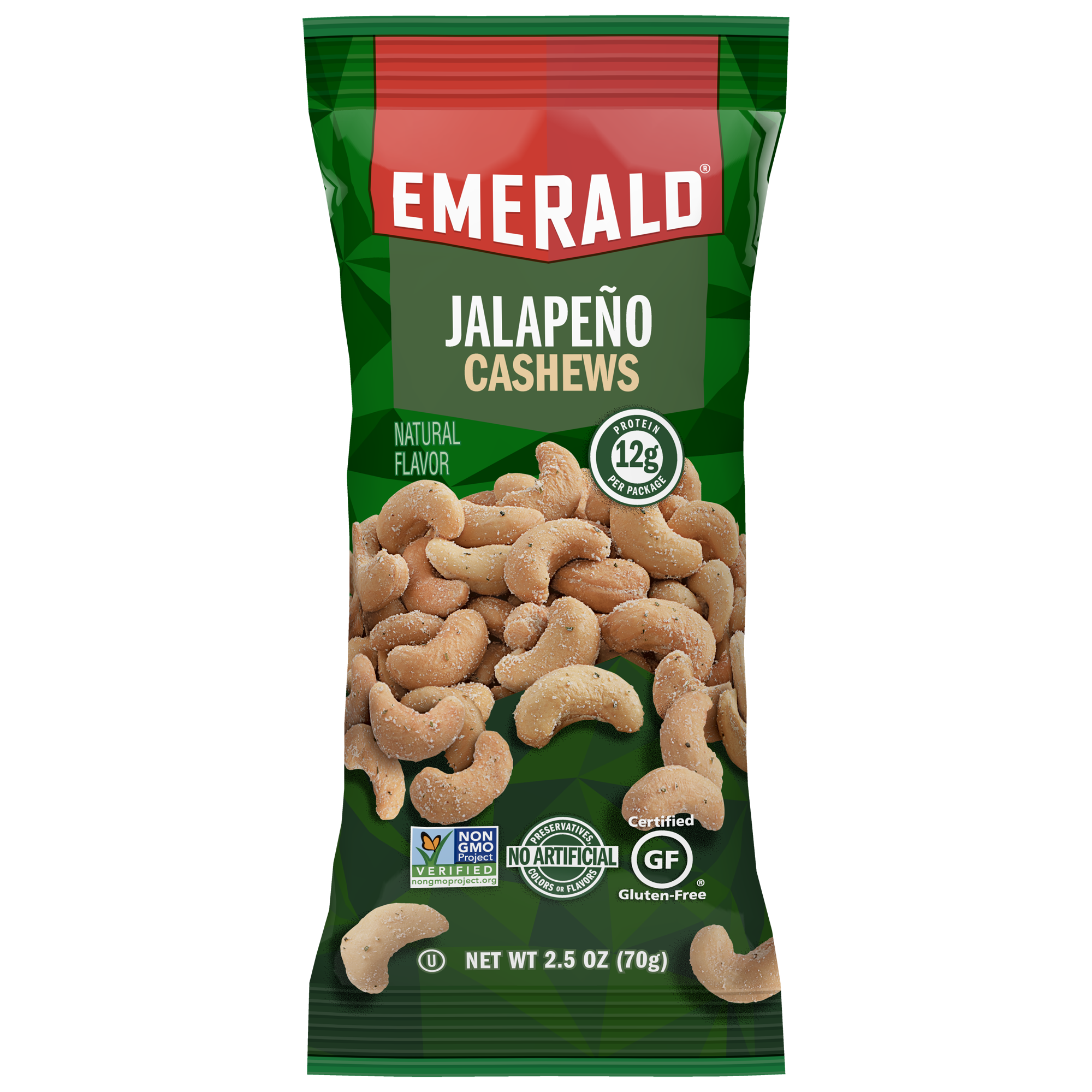 Emerald Nuts Jalapeno Cashews, 2.5 Oz