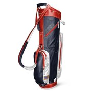Sun Mountain 2017 Leather Cart Bag - Navy / White / Red