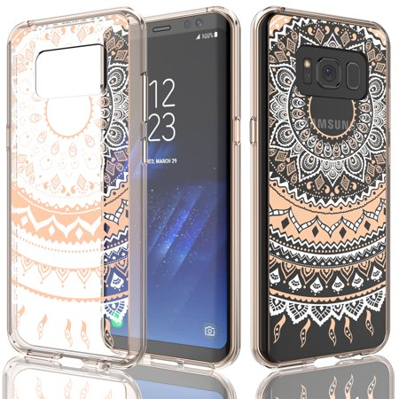 Samsung S8 Case, Galaxy S8 Plus Case, Galaxy S8 Case For Girls, Tekcoo [TFlower] Retro Pattern Transparent Cute Ultra Slim Clear Hard TPU Scratch-Proof Bumper Cover Cases For Samsung Galaxy S VIII