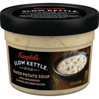(2 Pack) Campbell's Slow Kettle Style Baked Potato with Bacon Soup, 15.5 oz. Tub