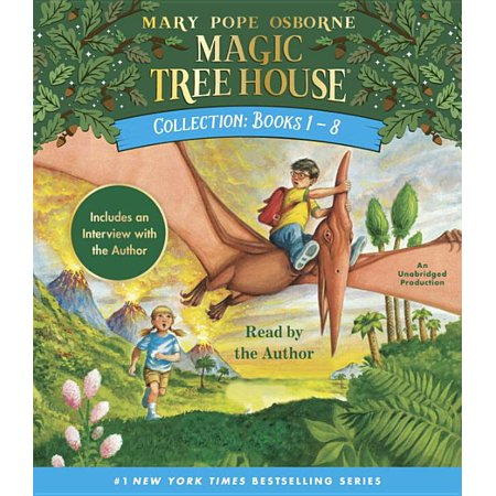 Magic Tree House Collection: Books 1-8 : Dinosaurs Before Dark, the Knight at Dawn, Mummies in the Morning, Pirates Past Noon, Night of the Ninjas, Afternoon on the Amazon, and More! (Compact Disc)