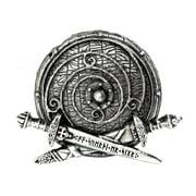Alchemy Of England Men's War Band Belt Buckle Silver