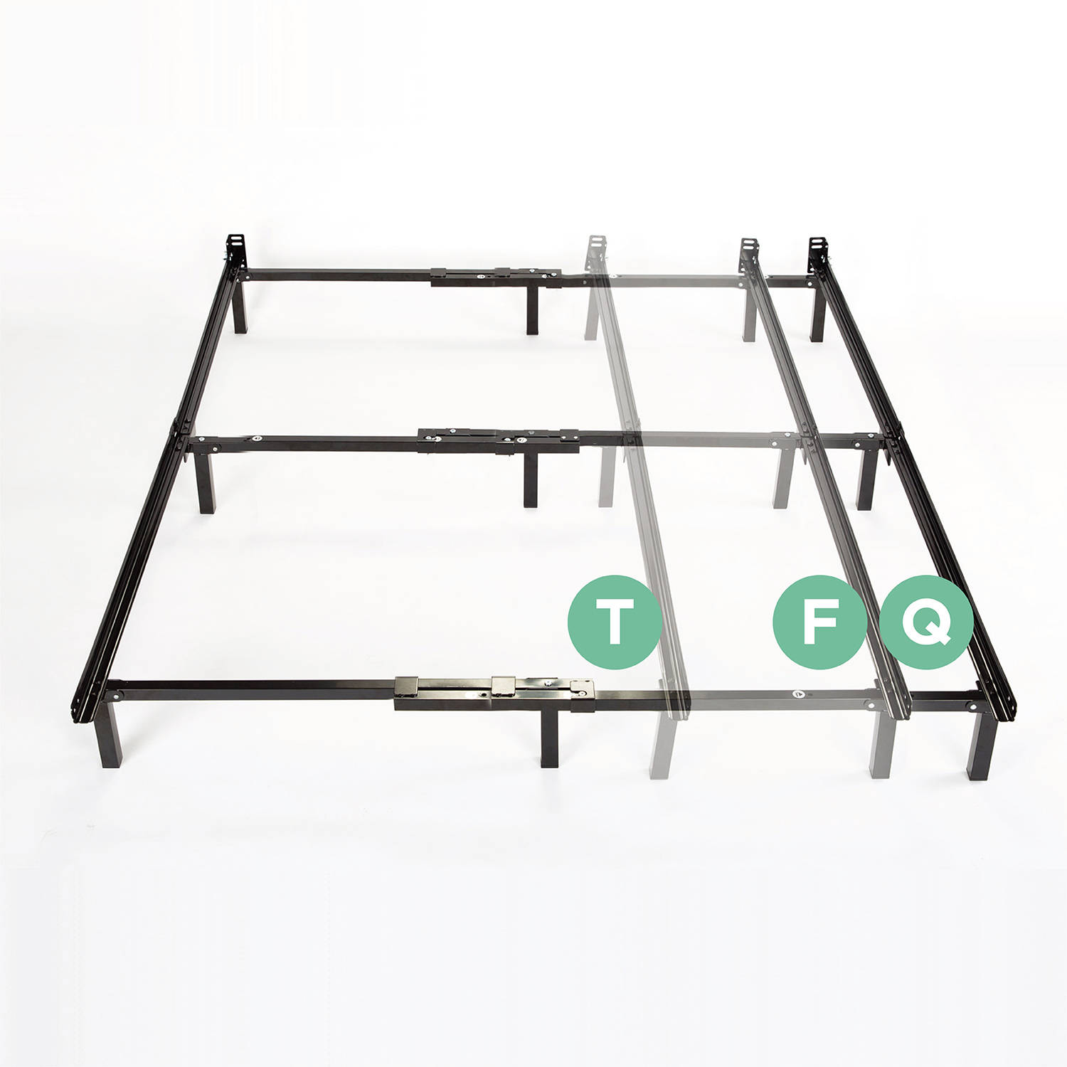 spa sensations 7 low profile adjustable steel bed frame easy no tools assembly multiple sizes walmartcom - Walmart King Bed Frame