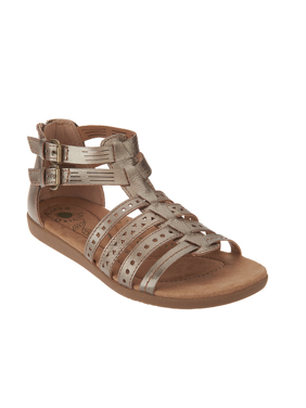 702da9b4f Product Image Earth Origins HARLIN Womens Platinum Leather Gladiator Sandals