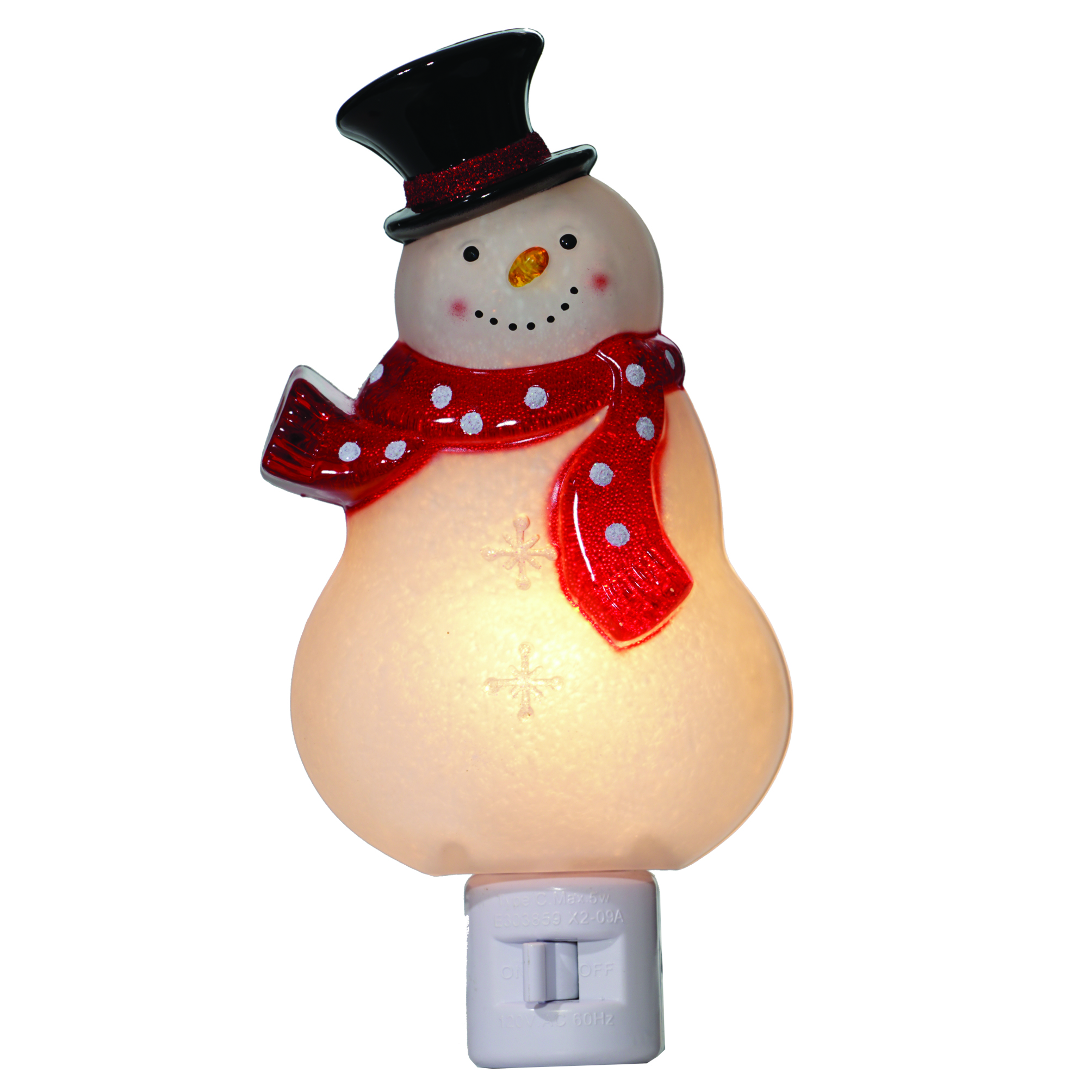Holiday Time Snowman Night Light