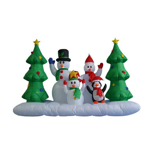 BZB Goods 8 ft Inflatable Snowman Family