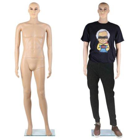 Ktaxon Male Full Body Realistic Mannequin Dress Form Great for Displaying wBase