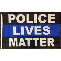 3x5 Police Lives Matter Blue Line Flag Law Enforcement Memorial Banner New