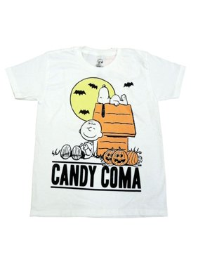 3198f5e4 Product Image Peanuts Boys White Candy Coma Halloween T-Shirt with Snoopy & Charlie  Brown