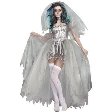 Bride Of Doom Costume Dreamgirl 9945 Grey