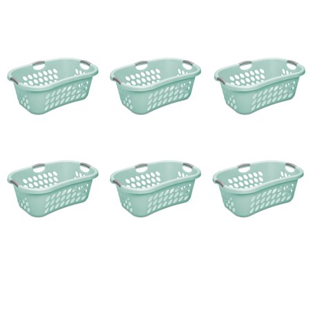 Sterilite, 1.25 Bushel/44 L Ultra HipHold Laundry Basket, Aqua Chrome, Case of (Ultra Laundry Basket)