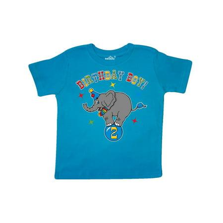 Circus Elephant 2nd Birthday Boy Toddler T Shirt