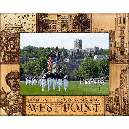 West Point United States Military Academy Engraved Wood Picture Frame (5 x -