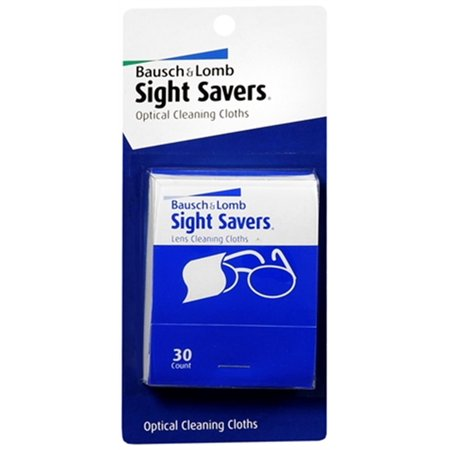 2 Pack - Bausch & Lomb Sight Savers Optical Cleaning Cloths 30 (Bausch And Lomb Optical)