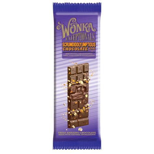 Wonka Exceptionals: Scrumdiddlyumptious Chocolate Bar Candy, 3.5 Oz