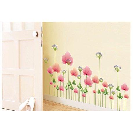 Prix fen tre pvc autocollant art fleur d coration papier for Autocollant mural walmart