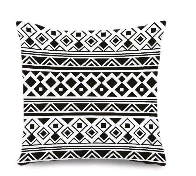 fabricmcc black and white moroccan throw pillows for couch geometric pattern decorative pillow cover for sofa