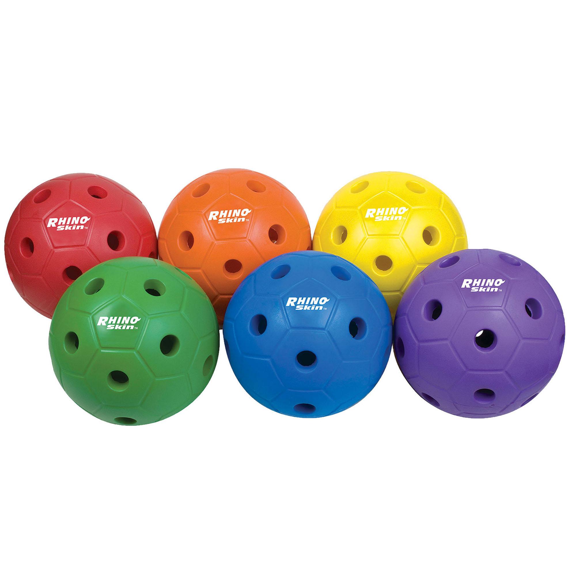 Rhino Skin® Sting Free Mini Soccer Ball Set, Assorted Colors, Set of 6