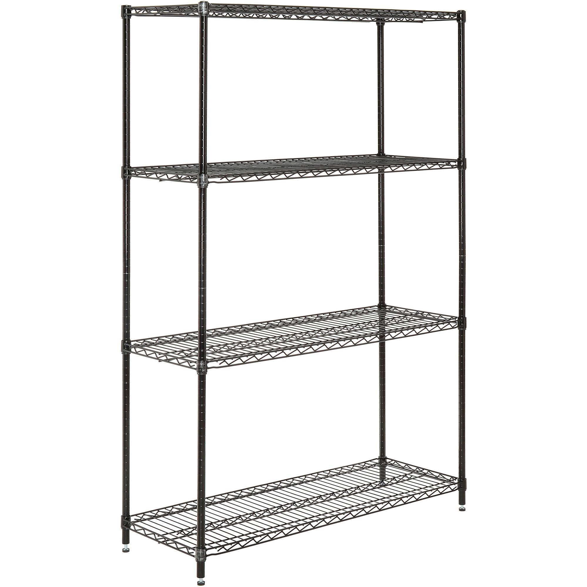 Nexel Wire Shelving Unit, Multiple Sizes Available, Black Epoxy Finish