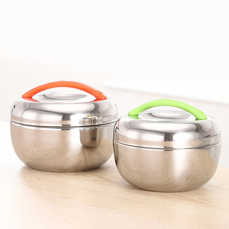 Food Storage Container Thermal Lunch Box Stainless Steel Microwave Heating UK