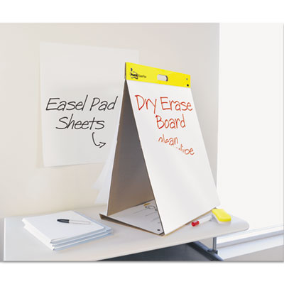 Dry Erase Tabletop Easel Unruled Pad, 20 x 23, White, 20 Sheets, Sold as 1 Pad, 20 Sheet per Pad